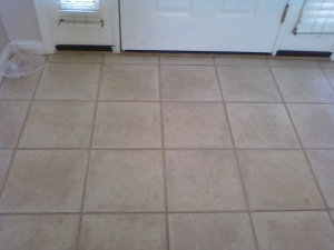 after cleaning the grout
